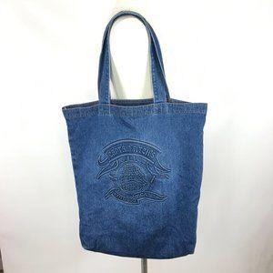 Vintage denim Tote Bag Large Captain Fitch's CA